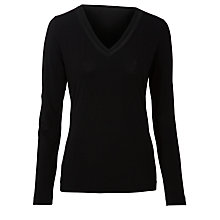 Buy Boss Black Long Sleeve T-Shirt, Black Online at johnlewis.com