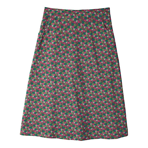 Buy Seasalt Feock Skirt, Madron Leaves Multi Online at johnlewis.com