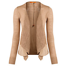 Buy BOSS Orange Wynell Cardigan, Medium Beige Online at johnlewis.com