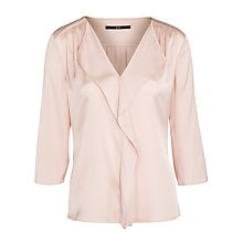 Buy Boss Black Isamea Ruffle Blouse, Pastel Pink Online at johnlewis.com