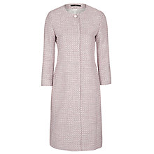 Buy BOSS Colara Textured Coat, Pale Pink Online at johnlewis.com