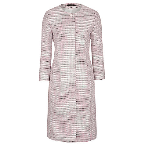 Buy Boss Orange Colara Textured Coat, Pale Pink Online at johnlewis.com