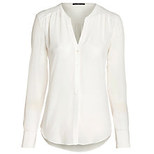 Buy BOSS Woman Rosalia Silk Blouse, White Online at johnlewis.com