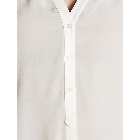 Buy BOSS Rosalia Silk Blouse, White Online at johnlewis.com
