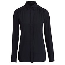 Buy BOSS Woman Basola Shirt, Open Blue Online at johnlewis.com