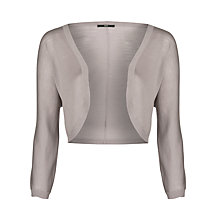 Buy BOSS Woman Knitted Bolero, Open Grey Online at johnlewis.com
