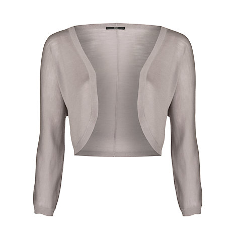 Buy Boss Black Knitted Bolero, Open Grey Online at johnlewis.com