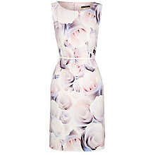 Buy BOSS Woman Dinoma Floral Dress, Open Mix Online at johnlewis.com