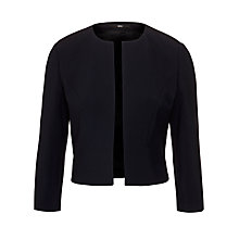 Buy BOSS Woman Collarless Jilani Jacket, Dark Navy Online at johnlewis.com