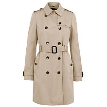 Buy BOSS Woman Cascadia Trench Coat, Open Beige Online at johnlewis.com