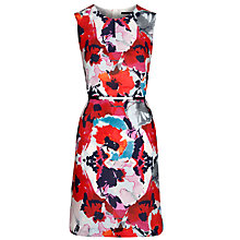 Buy BOSS Woman Derame Dress, Red Floral Online at johnlewis.com