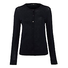 Buy BOSS Woman Bobble Cardigan, Dark Blue Online at johnlewis.com