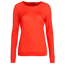 Buy BOSS Bobble Jumper, Red Online at johnlewis.com