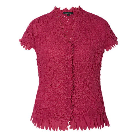 Buy Chesca Laser Petal Crush Pleated Blouse, Cerise Online at johnlewis.com