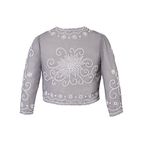 Buy Chesca Embroidered Bolero, Grey/Silver Online at johnlewis.com