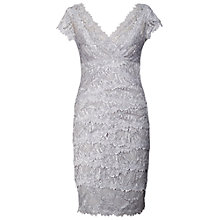 Buy Chesca Silver Lace Layered Dress, Grey/Silver Online at johnlewis.com
