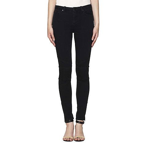 Buy Whistles Alexis Biker Jeans, Black Online at johnlewis.com