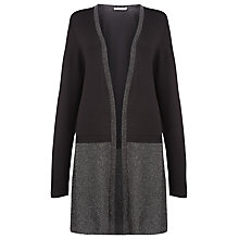 Buy Windsmoor Longline Lurex Cardigan, Black Online at johnlewis.com