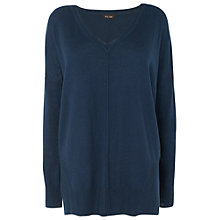 Buy Phase Eight Cordelia Curve Split Jumper, Petrol Online at johnlewis.com