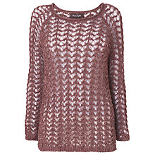 Buy Phase Eight Winfred Web Stitch Jumper, Heather Online at johnlewis.com