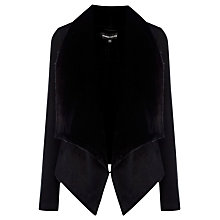 Buy Warehouse Bonded Faux Fur Coat, Black Online at johnlewis.com