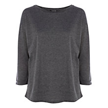 Buy Warehouse Long Sleeve Boyfriend T-Shirt, Dark Grey Online at johnlewis.com