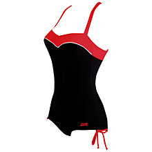 Buy Zoggs Go Tribal Bootysuit Swimsuit, Black/Red Online at johnlewis.com