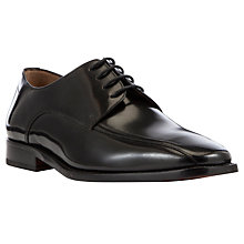 Buy John Lewis Tramline Leather Derby Shoes, Black Online at johnlewis.com