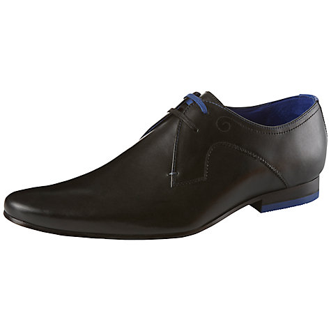 Buy Ted Baker Martt Leather Derby Shoes, Black Online at johnlewis.com