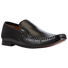 Buy John Lewis Square Toe Leather Loafers, Black Online at johnlewis.com