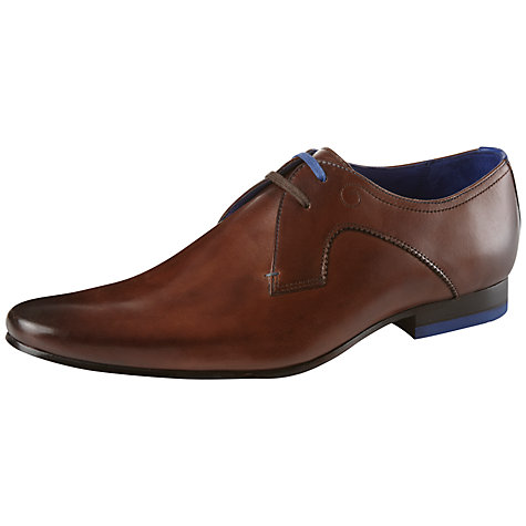 Buy Ted Baker Martt Leather Derby Shoes, Brown Online at johnlewis.com
