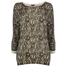 Buy Warehouse Lace Slash Batwing Jumper Online at johnlewis.com
