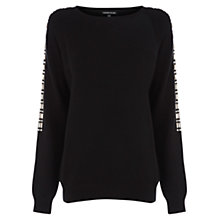 Buy Warehouse Embellished Jumper, Black Online at johnlewis.com