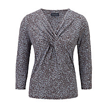 Buy Viyella Pip Spotted Jersey Top, Water Online at johnlewis.com
