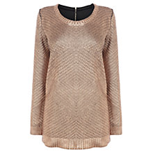 Buy Coast Val Knitted Top, Bronze Online at johnlewis.com
