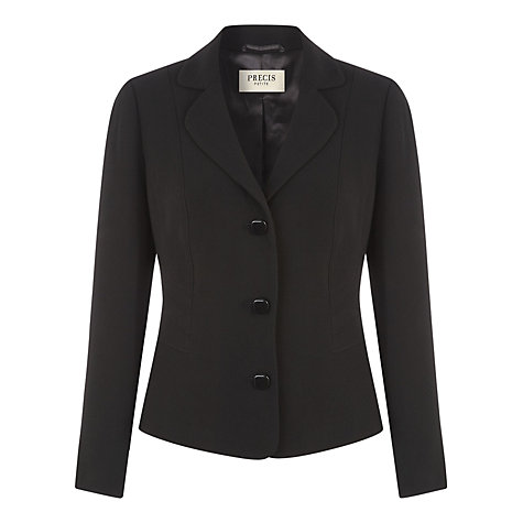Buy Precis Petite Textured Workwear Jacket, Black Online at johnlewis.com