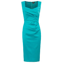Buy Alexon Sateen Dress, Green Online at johnlewis.com