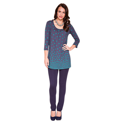 Buy East Graduated Spot Tunic, Navy Online at johnlewis.com