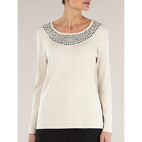 Buy Windsmoor Embellished Jumper, Neutral Online at johnlewis.com