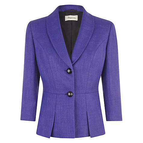 Buy Precis Petite Pleated Jacket, Violet Online at johnlewis.com