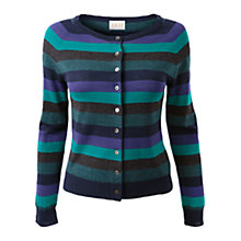 Buy East Colour Block Stripe Cardigan, Navy Online at johnlewis.com