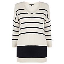 Buy Warehouse Block Hem Striped Jumper, Navy Online at johnlewis.com