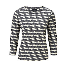 Buy Viyella Textured Jersey Top, Ivory Online at johnlewis.com