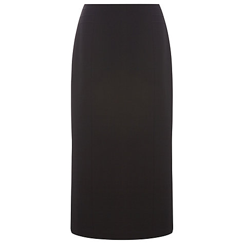 Buy Precis Petite Textured Workwear Skirt, Black Online at johnlewis.com