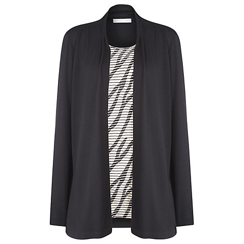 Buy Windsmoor 2-in-1 Textured Stripe Top, Black Online at johnlewis.com