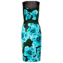 Buy Alexon Sateen Printed Dress, Blue Floral Online at johnlewis.com