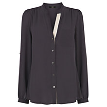 Buy Oasis Collar Shirt, Grey Online at johnlewis.com
