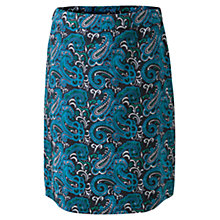 Buy East Sabine Paisley Corduroy Skirt, Navy Online at johnlewis.com