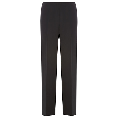 Buy Precis Petite Textured Work Trousers, Black Online at johnlewis.com