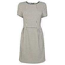 Buy Oasis Check Jacquard Dress, Black/White Online at johnlewis.com